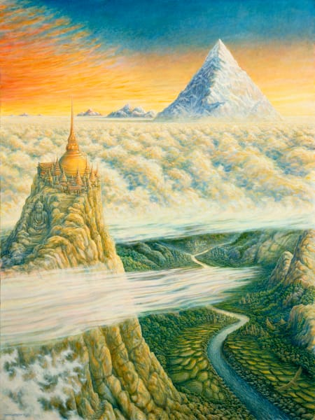 Islands in the Sky custom print from the original painting by Mark Henson
