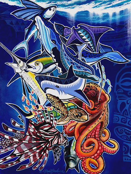 Polynesian Art | Spirit of the Sea by Mark Faulkner