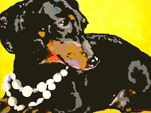 dachshund in pearls