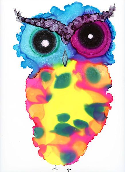 11x14 Owlsome  On Paper Art   HFA print gallery