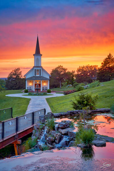 Epic Sunset at The Garden Chapel #2 - Big Cedar Lodge