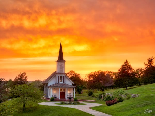 Epic Sunset at The Garden Chapel #3 - Big Cedar Lodge