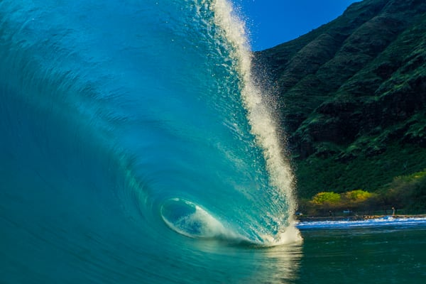 Wave and Surf Photography | Makua Morning by William Weaver