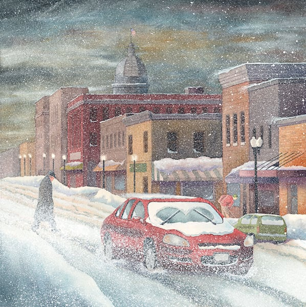 Snow Scene fine art print by Jim Dolan.