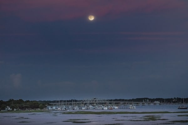 Beauforts Full Moon River Photography Art | Phil Heim Photography