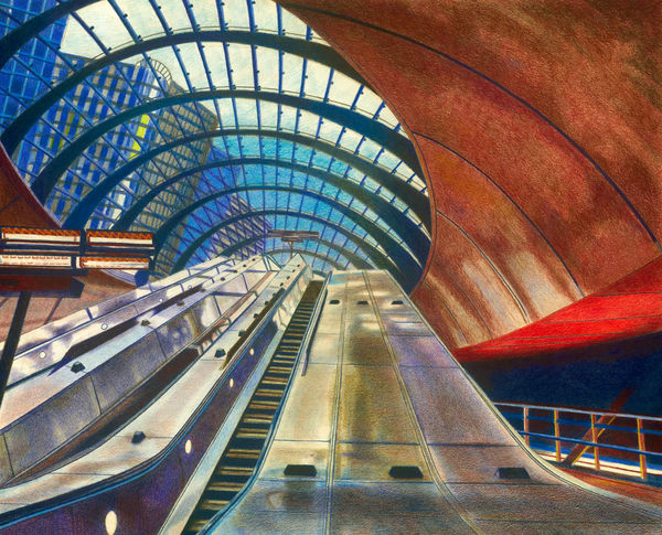 London's Underground Canary Wharf Metro Station