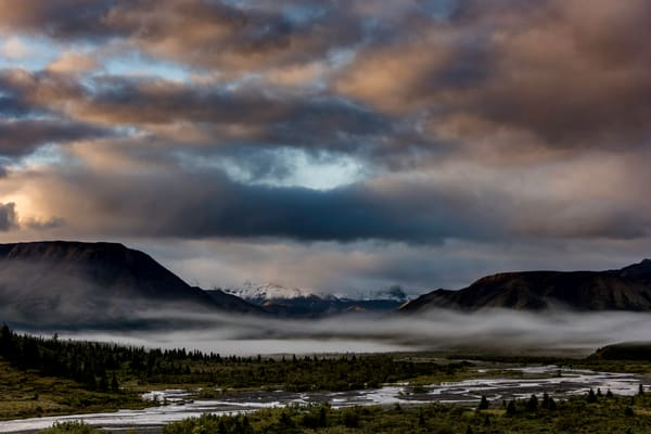 Morning clouds in Denali National Park