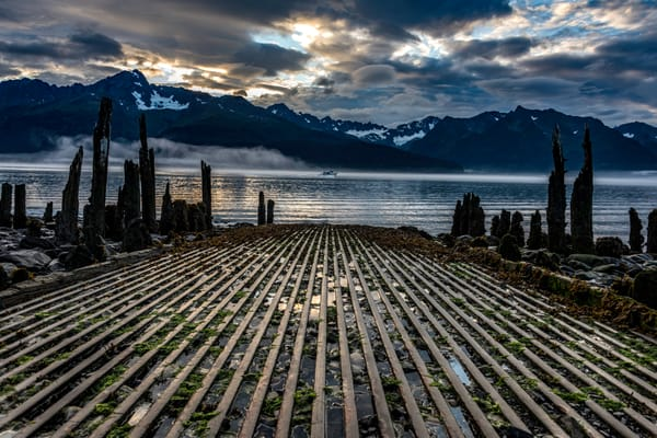 Old jetty in Seward Alaska