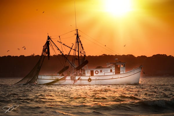 Hilton Head Fishing Boat at Sunset