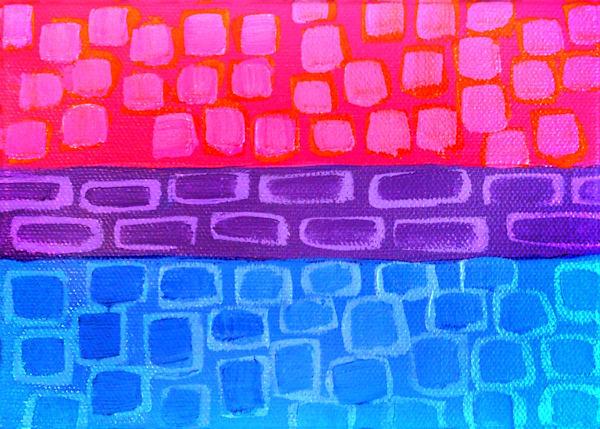 Bi Pride Flag, by artist Jenny Hahn