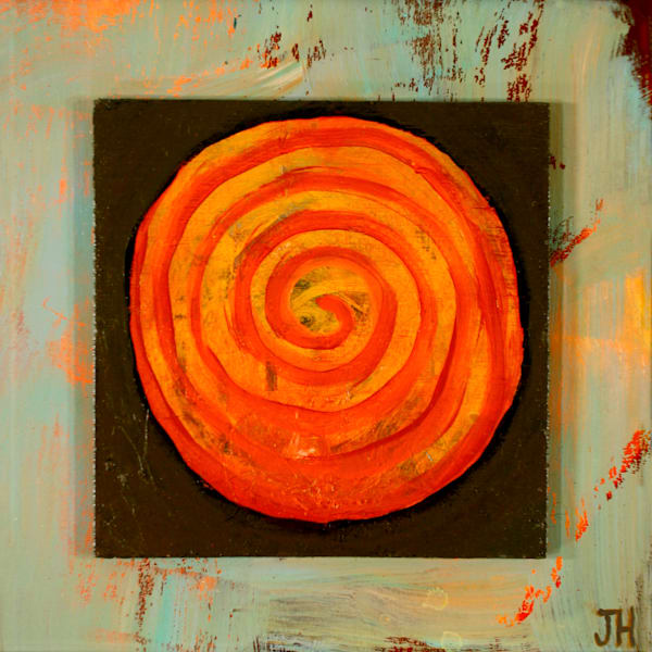 Orange Orb, by Jenny Hahn