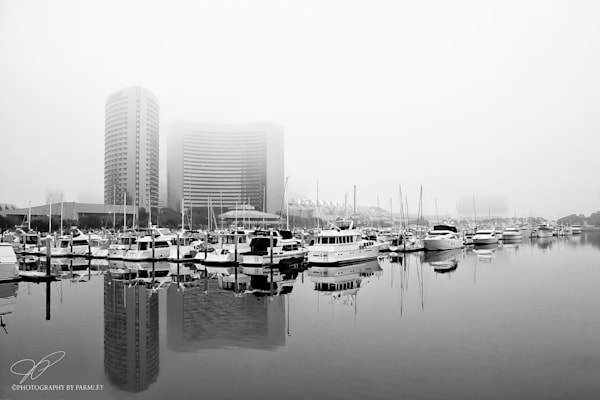 Foggy San Diego Harbor