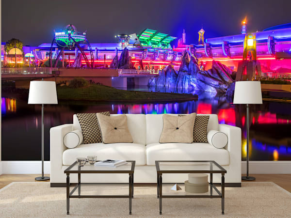 Reflections of Tomorrowland - Disney Mural | William Drew