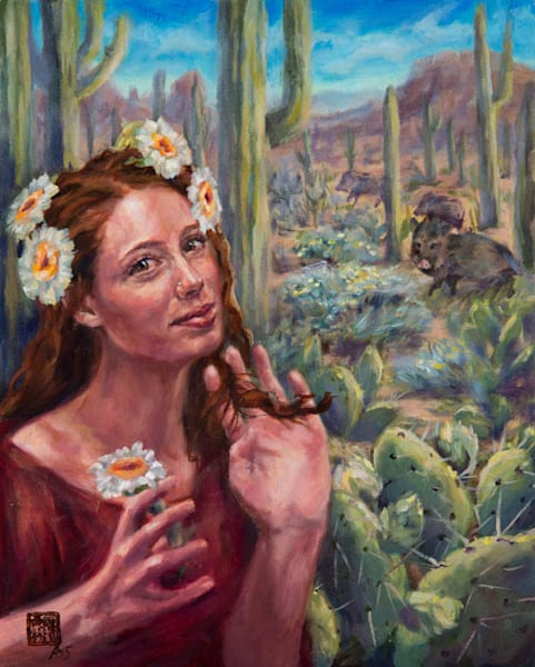Cactus Queen 2 by Ans Taylor, oil painting