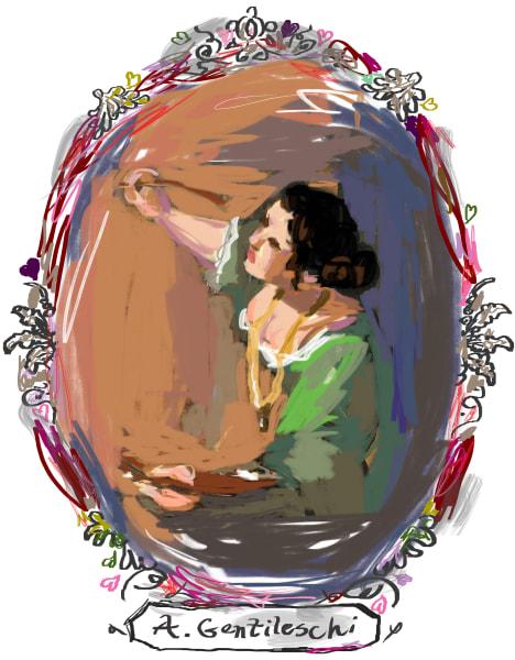 Artemisia Gentileschi Digital Portrait