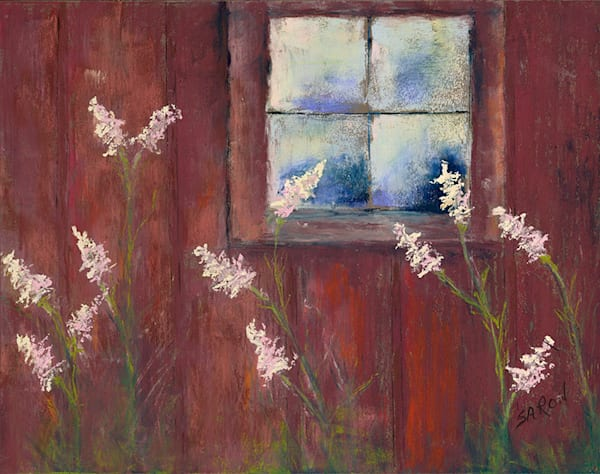 Barn Window fine art print by Dianne Saron.