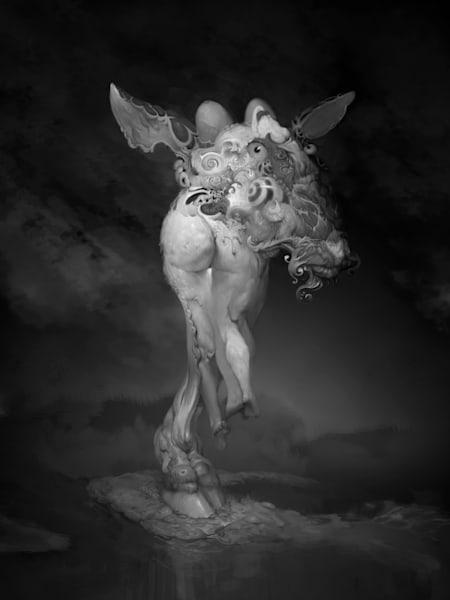 Asf Goat Bw 3 4 Ratio Art | Burton Gray