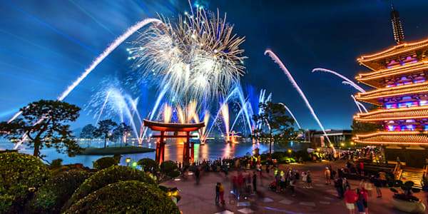 Epcot Fireworks Spectacular 4 - Disney Landscape | William Drew
