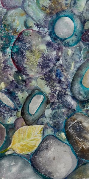 River Rock Triptych, panel 2