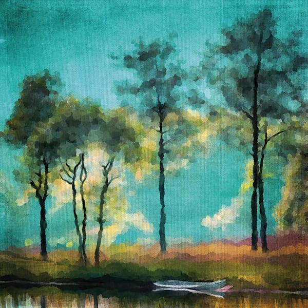 Lakeside by artist Willowbrook Fine Art Wrapped Canvas Art Print