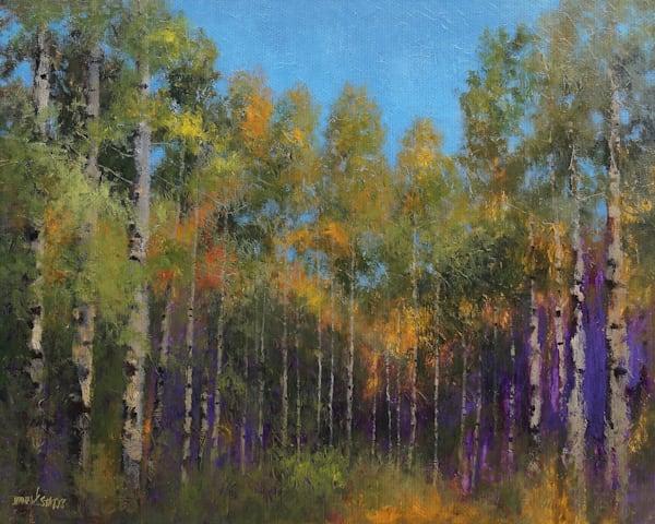 Aspen Autumn by artist Thomas Stotts Wrapped Canvas Art Print