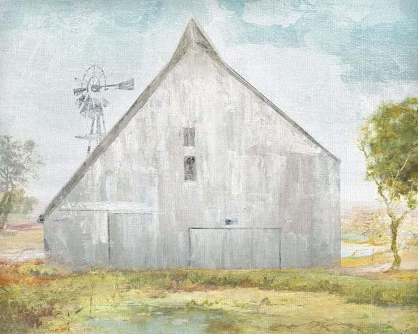 Big Gray Barn by Willowbrook Fine Art Wrapped Canvas Art Print