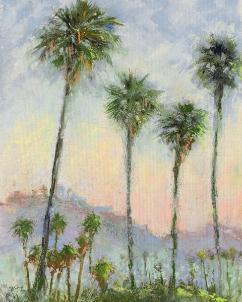 Carlton Sunrise by artist Nancie King Mertz Wrapped Canvas Art Print