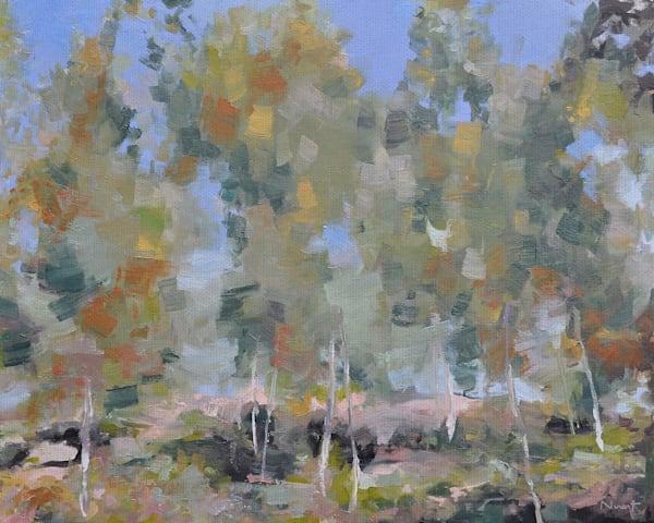 Dancing Birch by artist Clement Nivert Wrapped Canvas Art Print