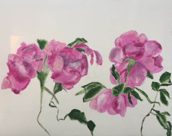 Blooming Roses original painting on canvas