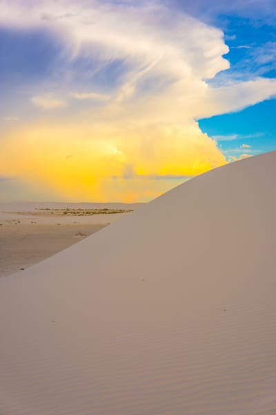 White Sands Gold | Desert Landscape Photography Print