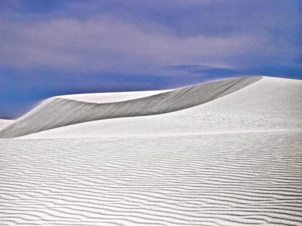 White Sands Ripple Dune | Desert Landscape Photography Print