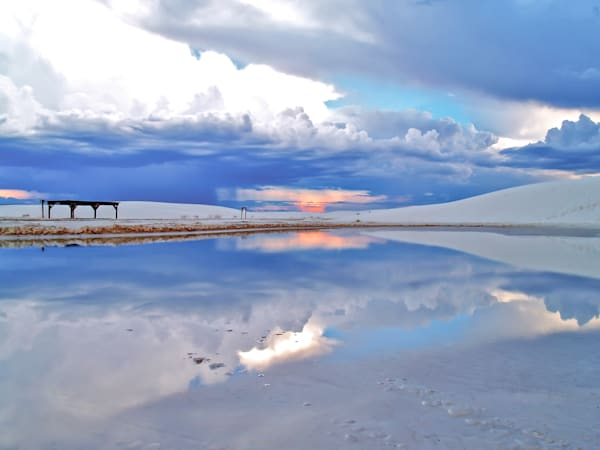 White Sands Thunderstorm Lake | Desert Landscape Photography Print