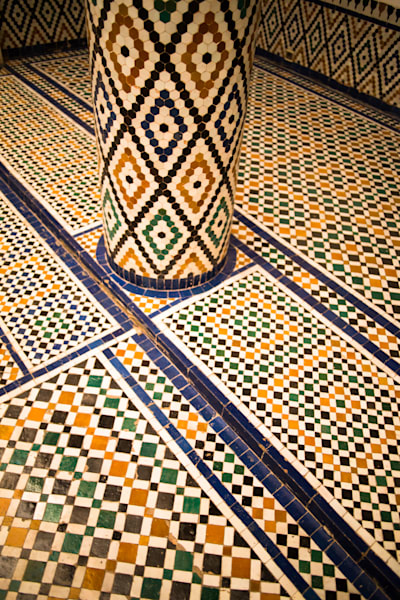 Marrakech Artistic Tilework II | Urban Art Photography Print