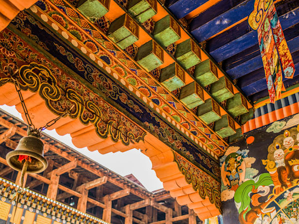 Bhutan Dzong Detail | Travel Photography Print