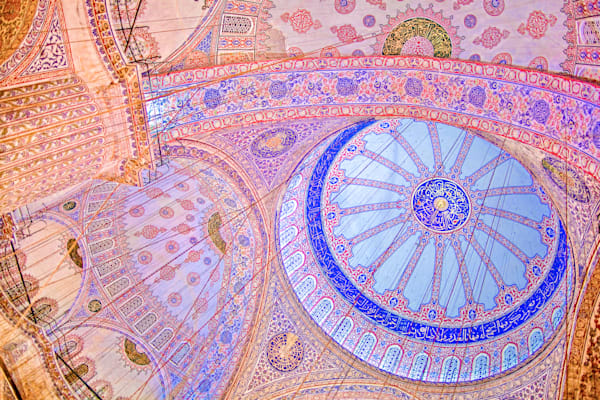 Istanbul Blue Mosque Ceiling IV | Travel Art Photography Print