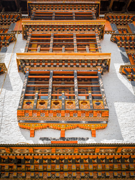 Bhutanese Dzong Architecture | Travel Photography Print