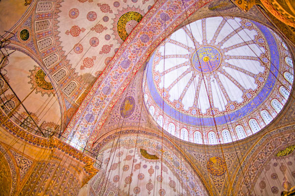 Istanbul Blue Mosque Ceiling | Travel Art Photography Print
