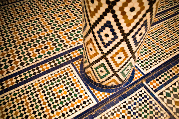 Marrakech Artistic Tilework | Urban Art Photography Print