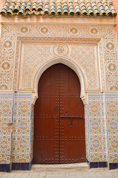 Ornate Marrakech Doorway I | Urban Art Photography Print