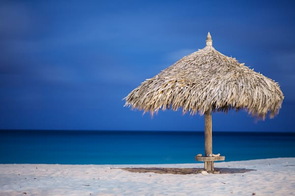 Aruba Beach Hut | Tropical Landscape Photography Print