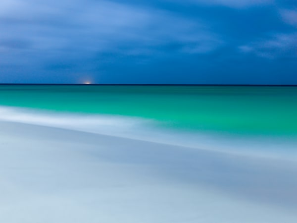 Aruba Moonrise | Tropical Landscape Photography Print