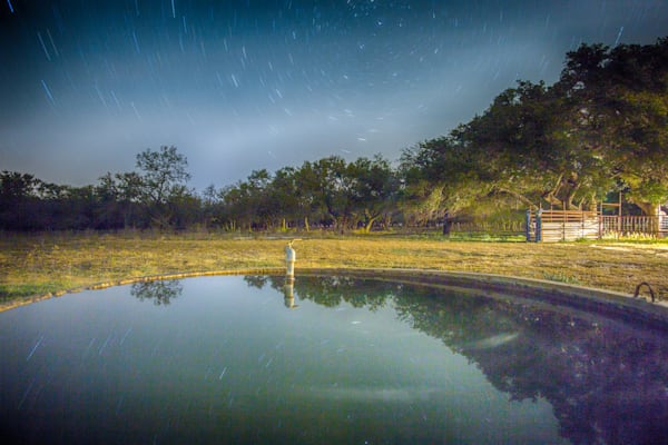 Ranch Water Tank Under A Full Moon | Full Moon Photography Print