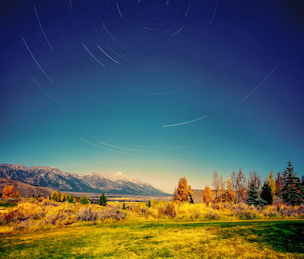 Tetons Under A Full Moon | Full Moon Photography Print