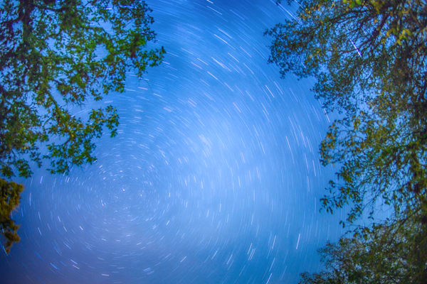 Starry Sky Trails | Full Moon Photography Print