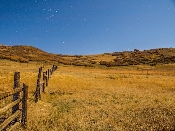 Colorado Ranch Under A Full Moon | Full Moon Photography Print