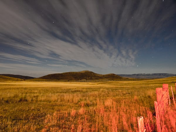 Colorado Ranch Under A Full Moon II | Full Moon Photography Print