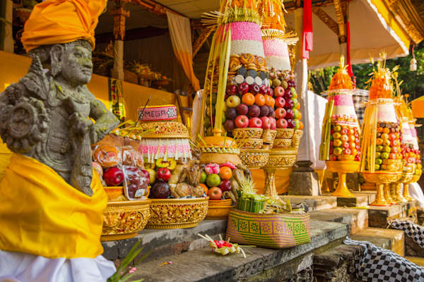 Balinese Temple Ceremony | Tropical Landscape Photography Print