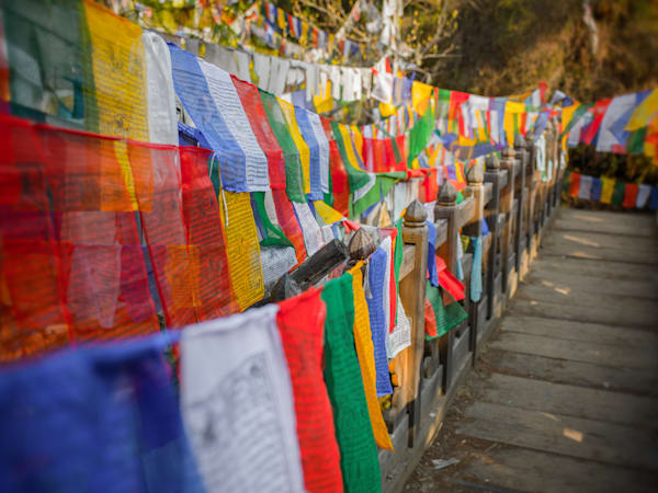 Bhutanese Prayer Flags | Travel Art Photography Print