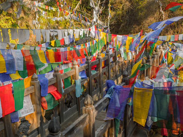 Sea of Buddhist Prayer Flags | Travel Art Photography Print