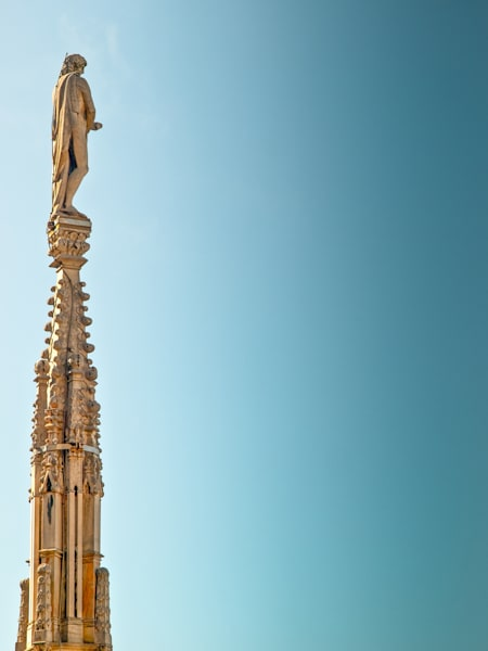 Milan Spire Statue | Travel Art Photography Print